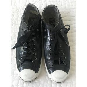 Converse Jack Purcell Black Leather Size 9.5